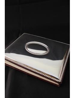 Album fotografico con applicazione in argento