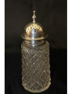 Spargi zucchero in argento e cristallo antico inglese