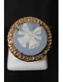 Anello tondo in bronzo con campanelle