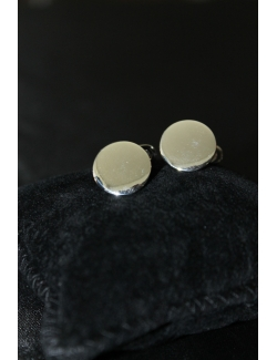 Coppia di gemelli tondi in argento