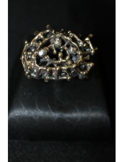 Anello etnico in argento e bronzo