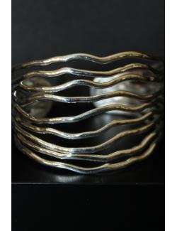 Bracciale in argento modello onda