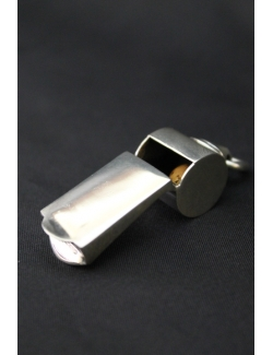 Fischio arbitrale in argento
