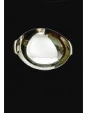 Centro tavola tondo con manici in argento