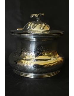 Scatola per thè in sheffield antico inglese datata 1828