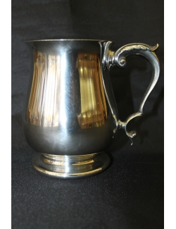Boccale liscio in sheffield antico inglese datato 1890