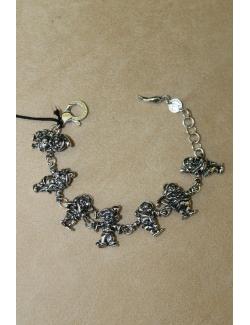 Bracciale in argento con i sette nani