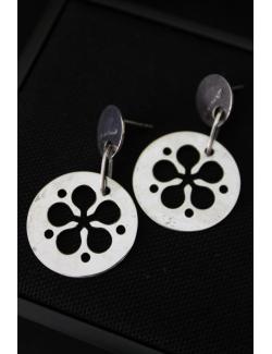 Coppia orecchini argento modello fiori