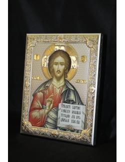 Icona in legno e argento