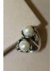 Anello in argento con perle