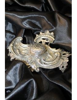 Calamaio in argento massiccio cesellato  a mano