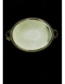 vassoio con manici in sheffield antico inglese