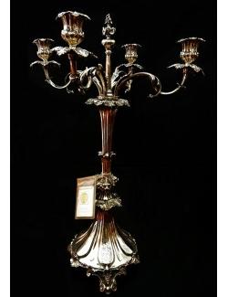 centro tavola candelabro a 4 fiamme in sheffield antico inglese