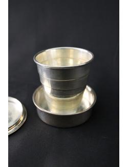 bicchierino bimbo da viaggio in argento